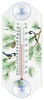 Chickadee Pair in Pine Branches Window Thermometer (Classic)