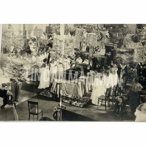 1922 Prince Kuhio Funeral Lying In State #2