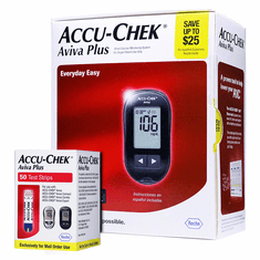 Accu-Chek AVIVA Plus Kit Combo (Meter Kit + 50 Test Strips)
