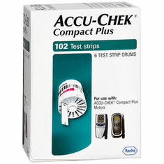 Accu-Chek Compact Plus Blood Glucose Test Strips Box of 102