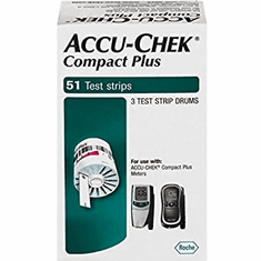 Accu-Chek Compact Plus Blood Glucose Test Strips Box of 51