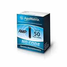 AgaMatrix AMP Blood Glucose Test Strips 50ct
