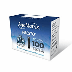 AgaMatrix Presto Blood Glucose Test Strips 100ct