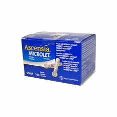 Ascensia Microlet Sterile Lancets Box of 100