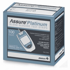 Assure Platinum Blood Glucose Test Strips 100ct