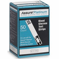 Assure Platinum Blood Glucose Test Strips 50ct