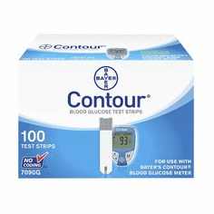Bayer Contour Blood Glucose Test Strips Box of 100