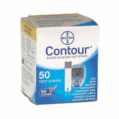 Bayer Contour Blood Glucose Test Strips Mail Order Box of 50