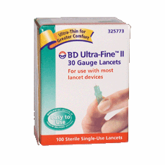 BD Ultra-Fine II 30 Gauge Lancets Box of 100