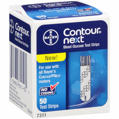 Contour Next Blood Glucose Test Strips Box of 50