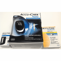 DISCONTINUED - Accu-Chek Nano Meter Kit Combo (Meter + 50 test strips + 102 lancets)
