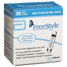 FreeStyle Blood Glucose Test Strips Box of 50 MO