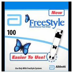 FreeStyle Blood Glucose Test Strips MO Box of 100