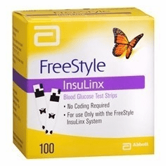 FreeStyle InsulinX Blood Glucose Test Strips Box of 100