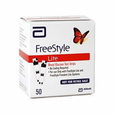 FreeStyle Lite Blood Glucose Test Strips Box of 50 NR