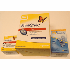 FreeStyle Lite Meter Kit Combo (Meter kit + 50 test strips + 100 lancets)