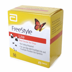 FreeStyle Lite Test Strips Box of 50 (Short Dated/Damaged Box/Vial)