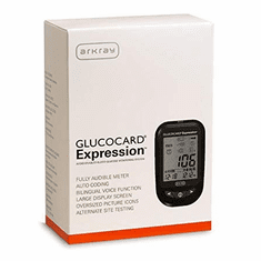 Glucocard Expression Blood Glucose Monitoring System Kit