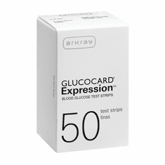 GlucoCard Expression Blood Glucose Test Strips 50ct