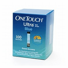 OneTouch Ultra Test Strips Box of 100 (Short Dated/Damaged Box/Vials)