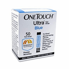 OneTouch Ultra Test Strips Mail Order Box of 50 (Short Date/Damaged Box/Vial)