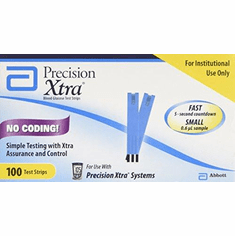 Precision Xtra Blood Glucose Test Strips Box of 100