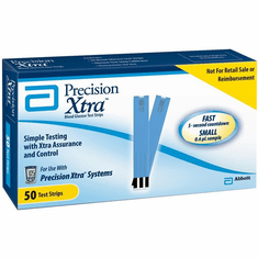 Precision Xtra Blood Glucose Test Strips Box of 50