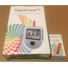 RapidView Meter Kit Combo (Meter and 50 test strips)
