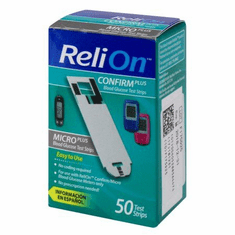 Reli On Confirm/Micro Blood Glucose Test Strips Box of 50