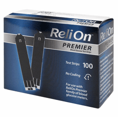 Reli On Premier Blood Glucose Test Strips Box of 100