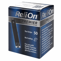 Reli On Premier Blood Glucose Test Strips Box of 50