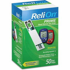 Reli On Prime Blood Glucose Test Strips Box of 50