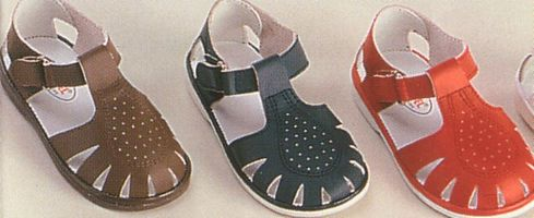 Angel leather sandals