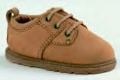 Baby Deer brown leather lace up shoe