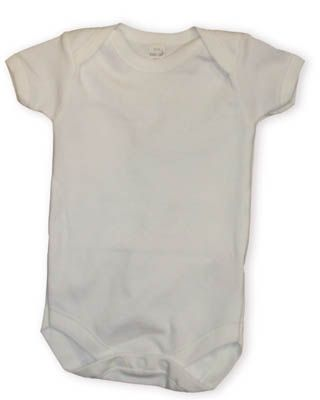 Baby Jay Kaitlin soft cotton white LONG sleeve onesie. Great for an undershirt and tee shirt.