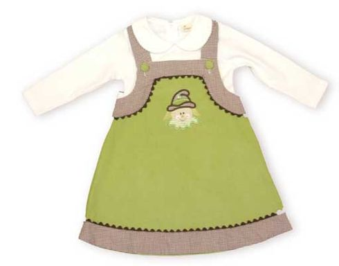 Beehave Mrs. Scarecrow blouse and jumper with adorable buttoned straps and ric rac trim is such a cute and comfy set.