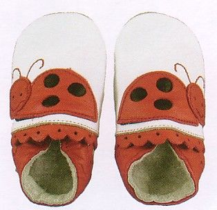 Bobux baby girl very soft leather shoes with lady bug and suede sole to prevent slipping. These shoes are made to stay on and are recommended by doctors. Wonderful year round shoes for your infant or toddler girl!