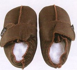 Bobux baby very soft chocolate leather European sneaker style shoes and suede sole to prevent slipping. These shoes are made to stay on and are recommended by doctors. Wonderful year round shoes for your infant or toddler!