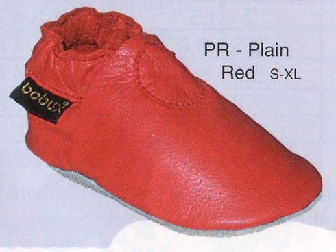 Bobux plain red colored shoes