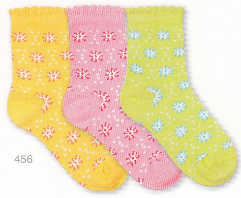 Country Kids 456 Flower Cotton Socks. Comes in yellow, lime and pink.