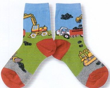 Country Kids Moving Rocks Sock. Made of 70% Cotton, 27% Nylon, and 3% Spandex. The real big jobs need all the real big equipment. Perfect for your big boy.