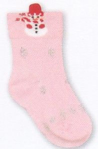 Country Kids Snowman Bootie cotton bootie with snowflakes and snowman.