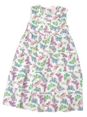Crokids Butterfly Angel soft tiered dress with butterfly print. Comfortable.