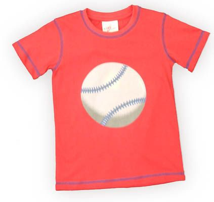 Crokids Fast Pitch red shirt with a baseball on the front. Goes great with jeans and khakis.