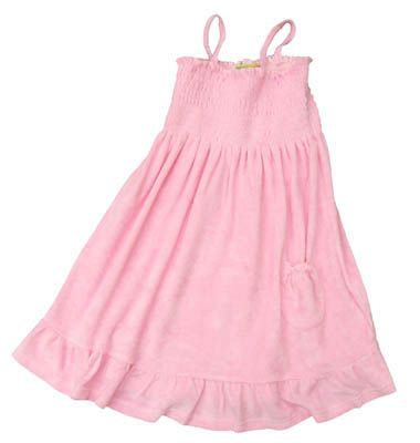 Crokids Lucy pink terrycloth sundress that is fun to wear everyday, to the pool, or to dinner.