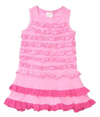 Crokids Pink, Pink, and More Pink pink sundress with many ruffles. Very soft.