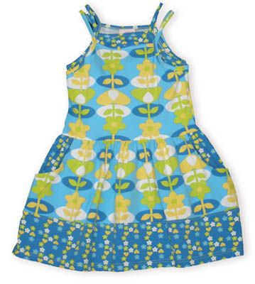 Crokids Stars to Hearts soft sundress with both a flower print and a stars and hearts print.