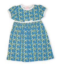 Crokids Stars to Hearts turquoise dress with lots of stars and hearts.