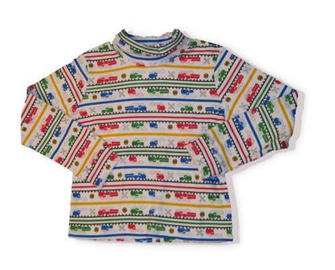 Crokids Train Convention train printed turtleneck. It is very soft and great for the cooler weather.