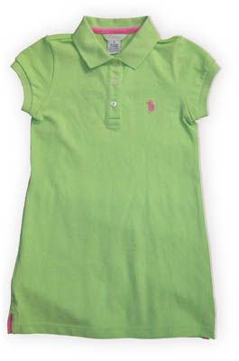 E Land Abbie cute lime polo dress. Very comfortable and preppy.